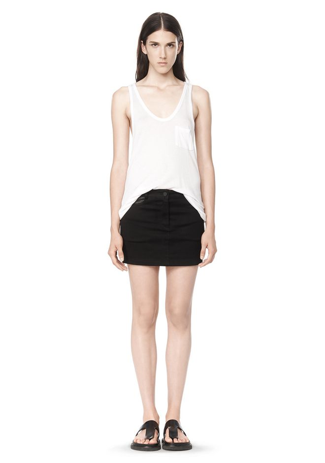 T by ALEXANDER WANG CLASSIC TANK WITH POCKET TOP Adult 12_n_f