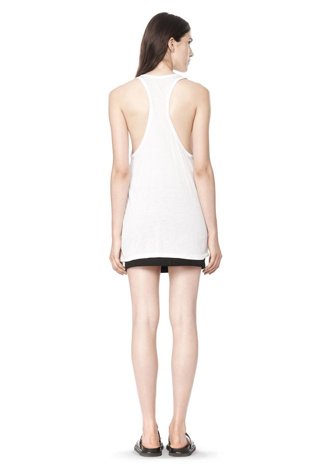 T by ALEXANDER WANG CLASSIC TANK WITH POCKET TOP Adult 12_n_r