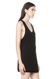 T by ALEXANDER WANG CLASSIC TANK WITH POCKET TOP Adult 8_n_a