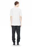 T by ALEXANDER WANG SLUB RAYON SILK LOW NECKTEE TEE Adult 8_n_r