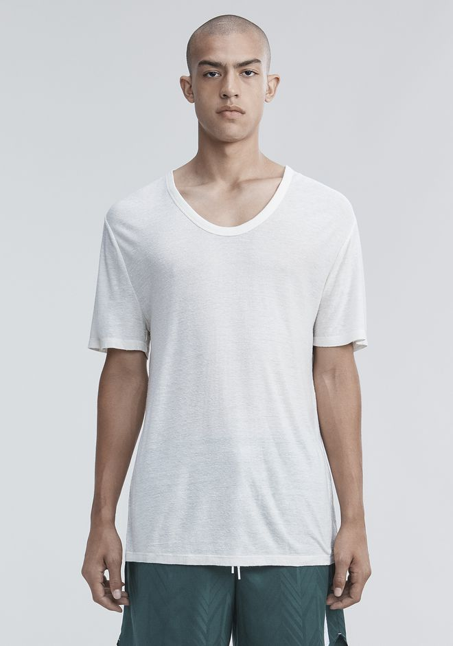 T by ALEXANDER WANG SLUB RAYON SILK LOW NECKTEE TEE Adult 12_n_e