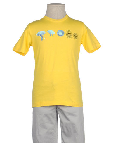STONE ISLAND JUNIOR - Short sleeve t-shirt