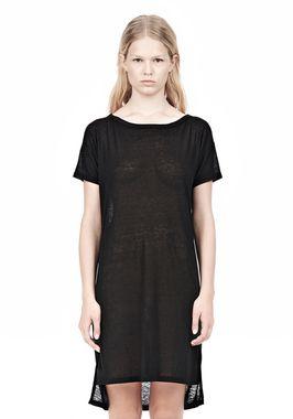 SLUB CLASSIC BOATNECK DRESS