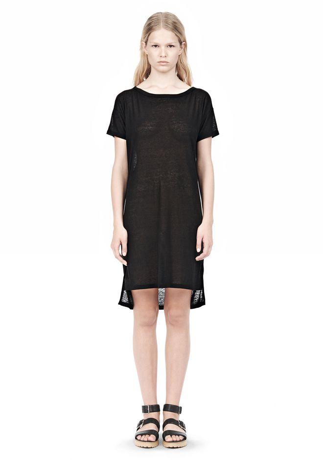 T by ALEXANDER WANG SLUB CLASSIC BOATNECK DRESS