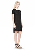 T by ALEXANDER WANG SLUB CLASSIC BOATNECK DRESS  Short Dress Adult 8_n_d