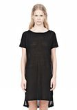 T by ALEXANDER WANG SLUB CLASSIC BOATNECK DRESS  Short Dress Adult 8_n_e