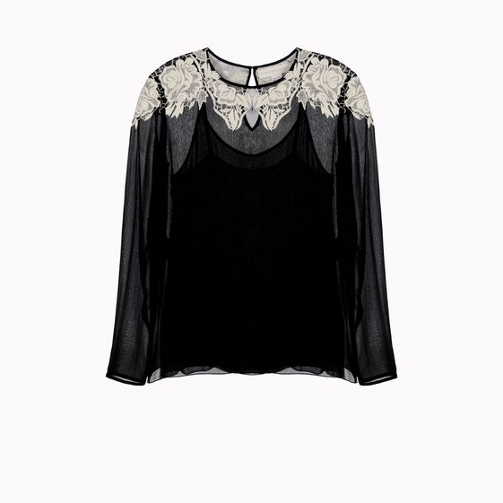 Stella McCartney, Blusa Beckett con Ricamo sul Collo