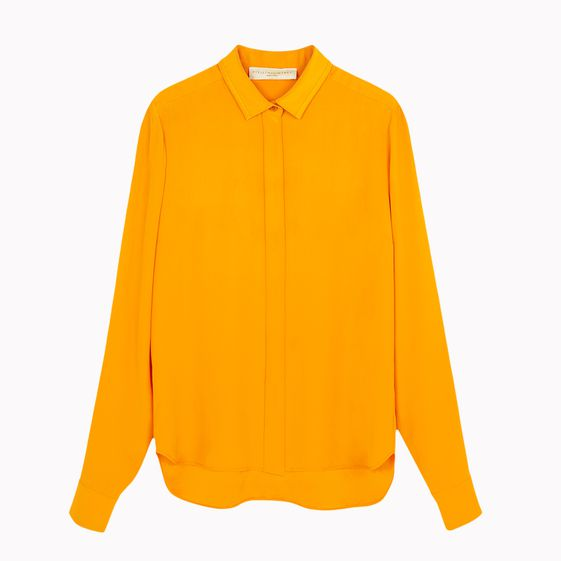 Stella McCartney, Tangerine Back Silk Satin Dorsey Shirt