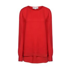 STELLA McCARTNEY, Maniche lunghe, Romley Top - Top in Cady