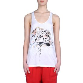 STELLA McCARTNEY, Tank, Draped organic Cotton Tank Tee