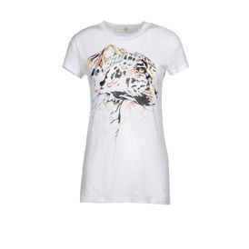 STELLA McCARTNEY, T-shirt, T-Shirt in Cotone Organic con Stampa Testa di Leopardo