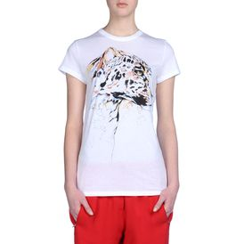 STELLA McCARTNEY, T-Shirt, Organic Cotton Leopard Head Print Top