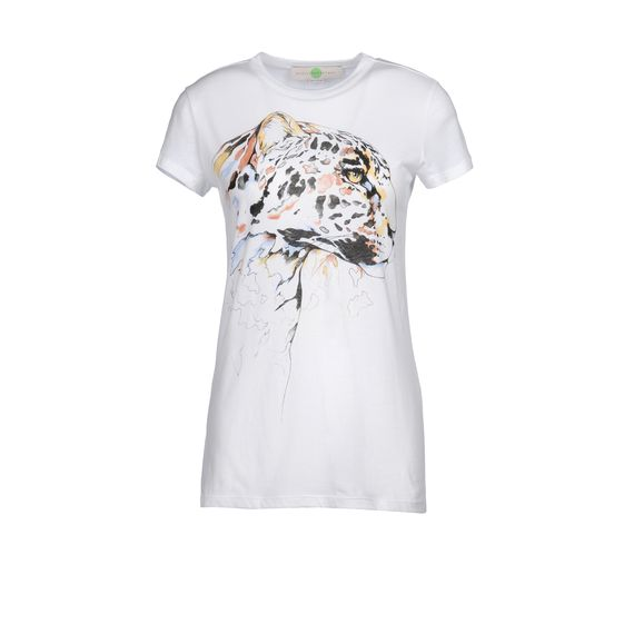 Stella McCartney, Organic Cotton Leopard Head Print Top
