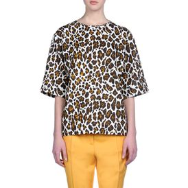 STELLA McCARTNEY, Top, Grosvenor Top - Top in Voile Stampa Leopardo