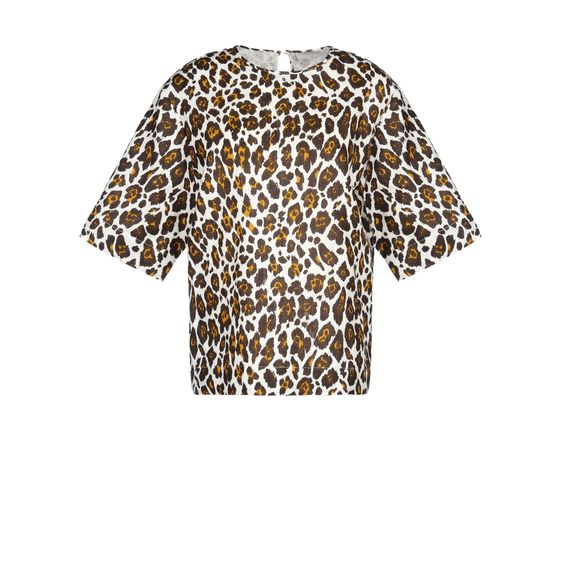 Stella McCartney, Grosvenor Top - Top in Voile Stampa Leopardo