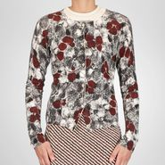 Cashmere Fine Silk Primerose Print Cardigan - Sweater and top - BOTTEGA VENETA - PE13 - 1130