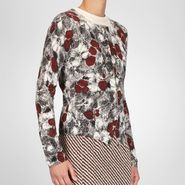 Cashmere Fine Silk Primerose Print Cardigan - Sweater and top - BOTTEGA VENETA - PE13 - 1750