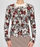 Cashmere Fine Silk Primerose Print Cardigan