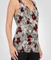 Cashmere Fine Silk Primerose Print Top
