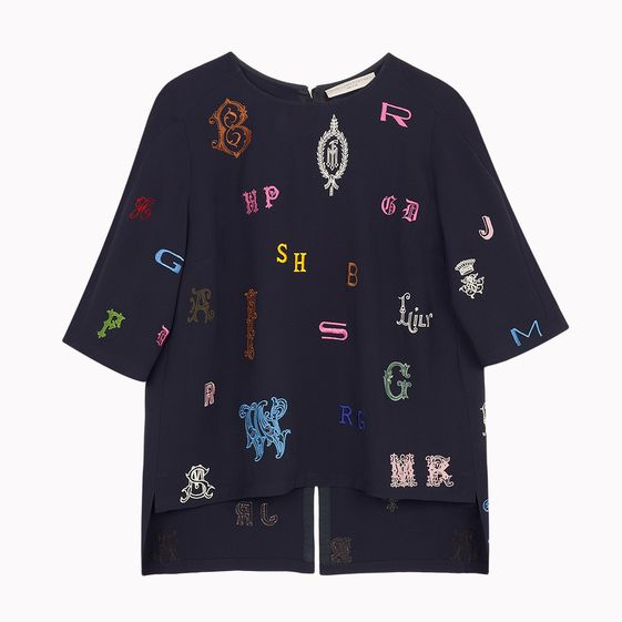 Stella McCartney, Carter Monogram Embroidery Top 