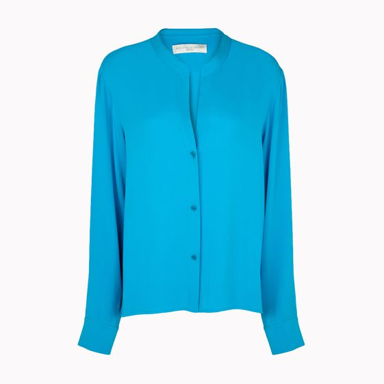 Stella McCartney, Blusa in Seta Collo Rialzato