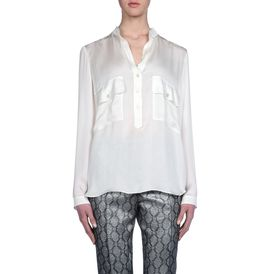 STELLA McCARTNEY, Long Sleeved, Silk Satin Long Sleeves Blouse