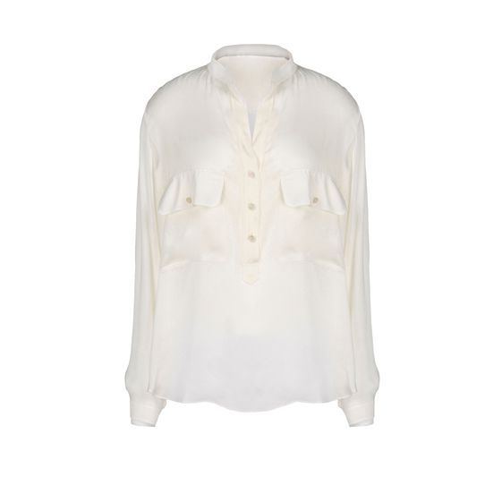 Stella McCartney, Silk Satin Long Sleeves Blouse