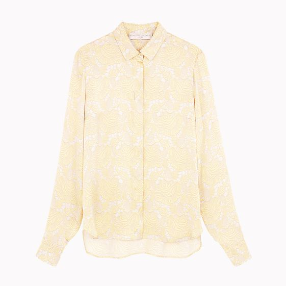 Stella McCartney, Guipure Silk Satin Print Dor Shirt