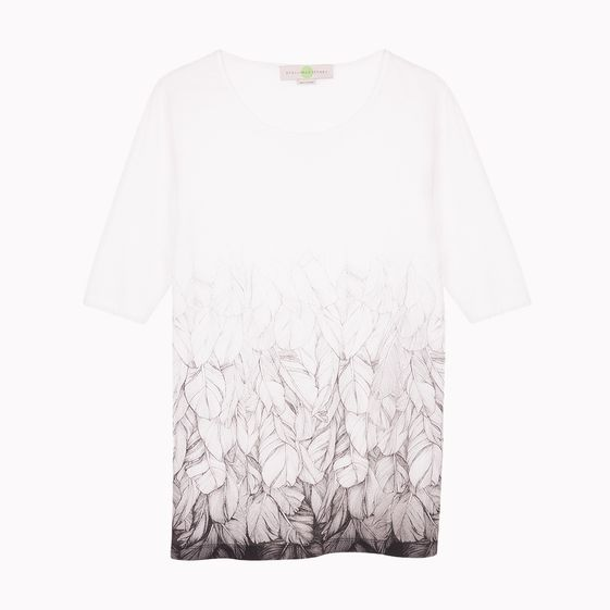 Stella McCartney, White Leaf T-Shirt