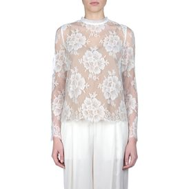 STELLA McCARTNEY, Blouse, Off-White Cotton Lace Randall Shirt