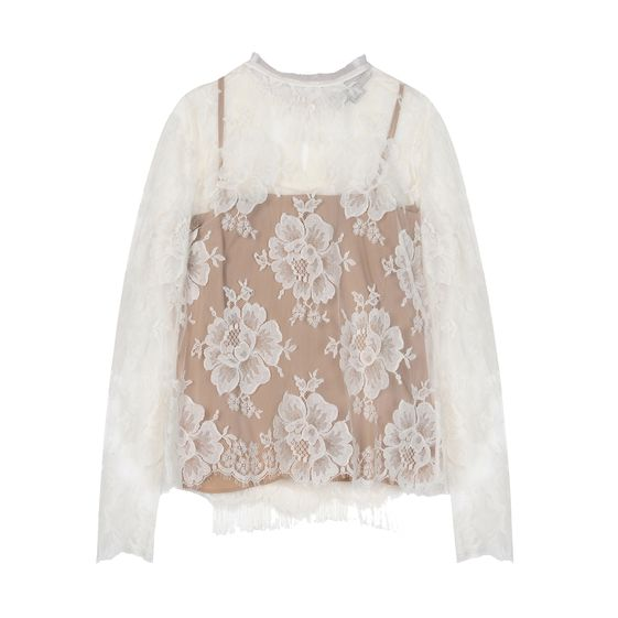 Stella McCartney, Off-White Cotton Lace Randall Shirt