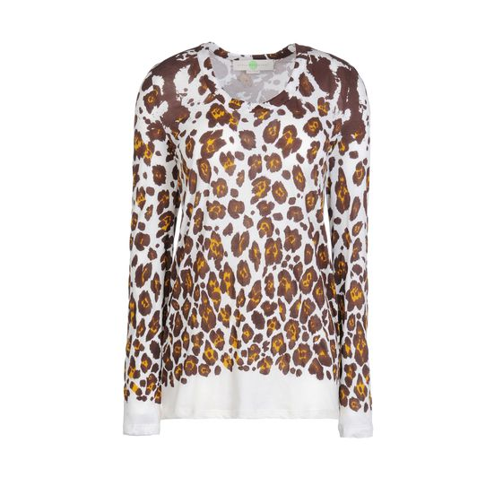 Stella McCartney, Leopard Print Organic Cotton Long Sleeved Tee