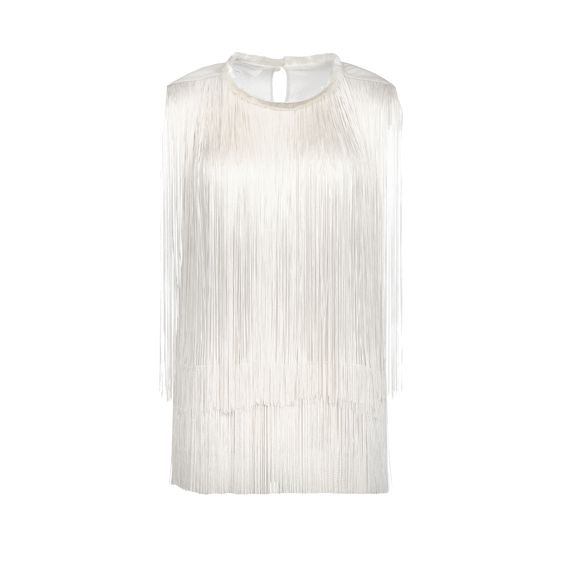 Stella McCartney, Top Columbia en crpon de mousseline de soie calicot