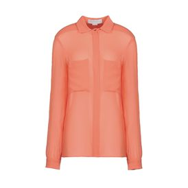 STELLA McCARTNEY, Camicia, Constance Shirt - Camicia Corallo in Chiffon