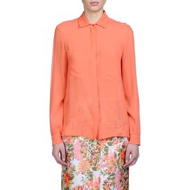STELLA McCARTNEY, Shirt, Coral Silk Chiffon Crepon Constance Shirt