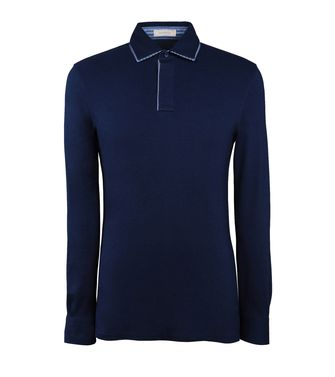 Long-sleeved Polo  ERMENEGILDO ZEGNA
