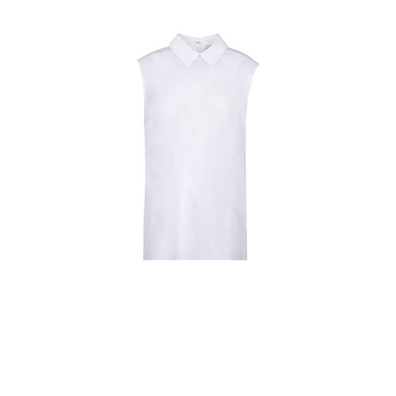 Stella McCartney, White Washed Poplin Sleeveless Rosaline Shirt