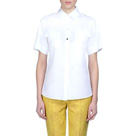 STELLA McCARTNEY, Shirt, White Organic Herringbone Maida Shirt