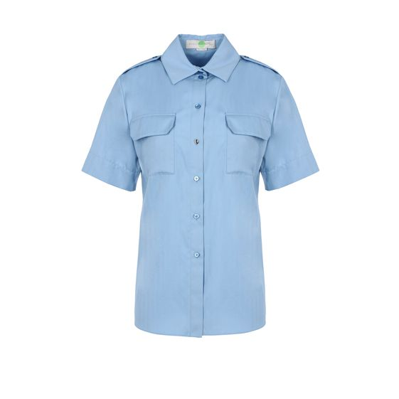 Stella McCartney, Maida Shirt - Camicia Bianca in Cotone Organico