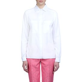 STELLA McCARTNEY, Shirt, White Organic Herringbone Constance Shirt