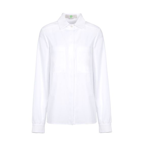 Stella McCartney, White Organic Herringbone Constance Shirt