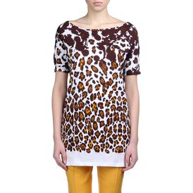 STELLA McCARTNEY, Short Sleeved, Leopard Print Organic Cotton Tee