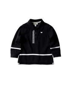 ARMANI JUNIOR - Long-sleeved polo shirt