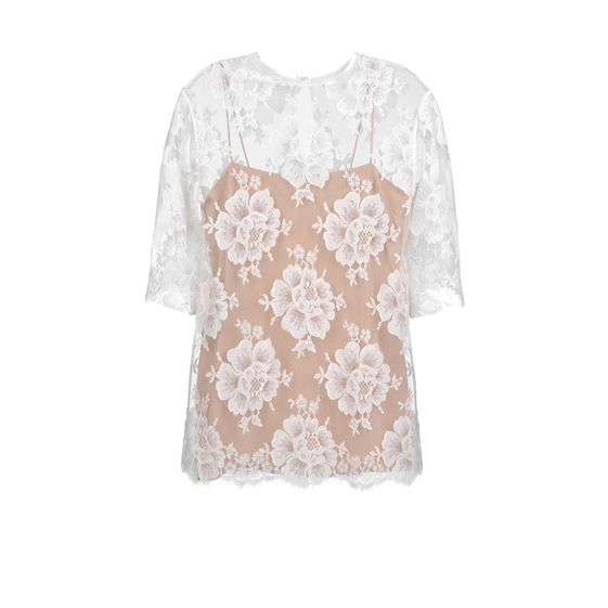 Stella McCartney, Top Aurbrey aus Baumwollspitze