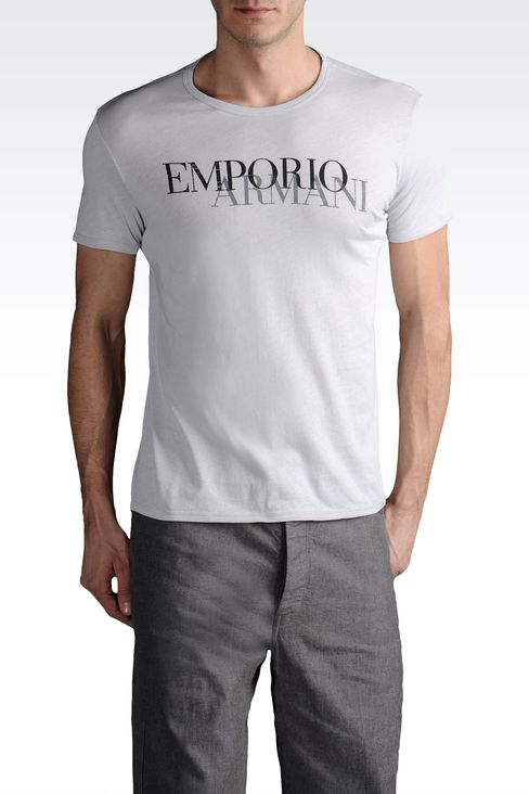 emporio armani men t shirt with emporio armani logo. Black Bedroom Furniture Sets. Home Design Ideas