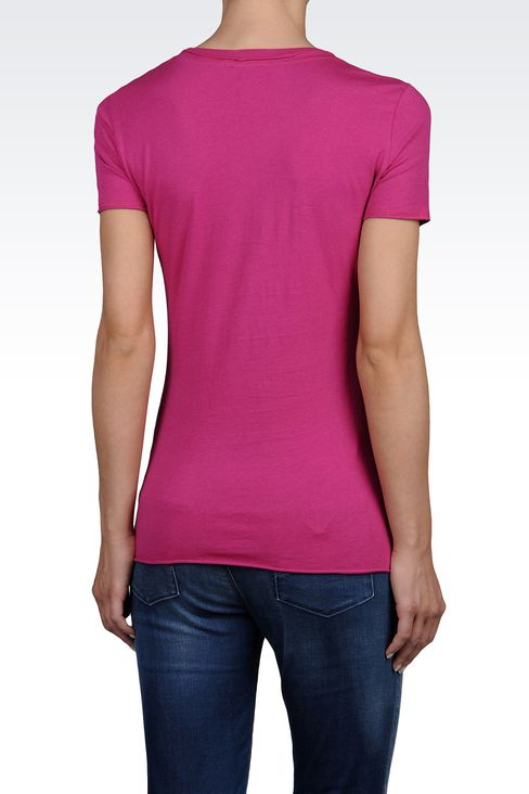 JERSEY T-SHIRT WITH FOREVER 1ST CLASS PRINT: Print t-shirts Women by Armani - 2