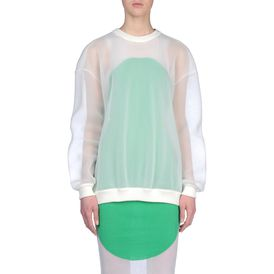 STELLA McCARTNEY, Long Sleeved, Long Sleeves Airtex Jumper