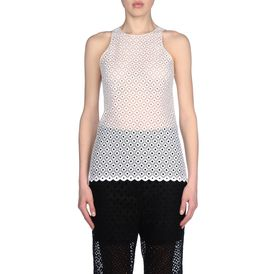 STELLA McCARTNEY, Strapless, Embroidered Sleeveless Top