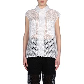 STELLA McCARTNEY, Shirt, Cutwork Embroidery Erme Top