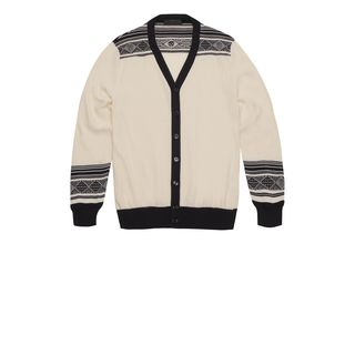ALEXANDER MCQUEEN, Cardigan, Fair Isle Stripe Cardigan